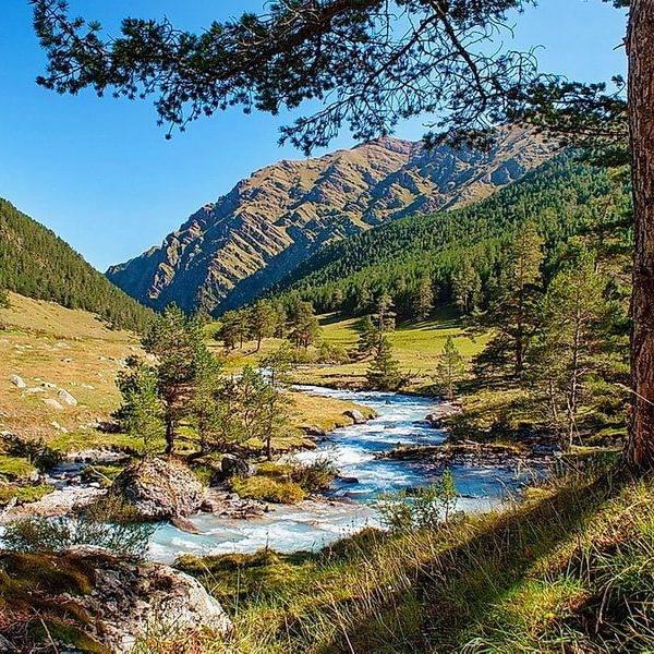 Слияние рек Большая и Малая Марка