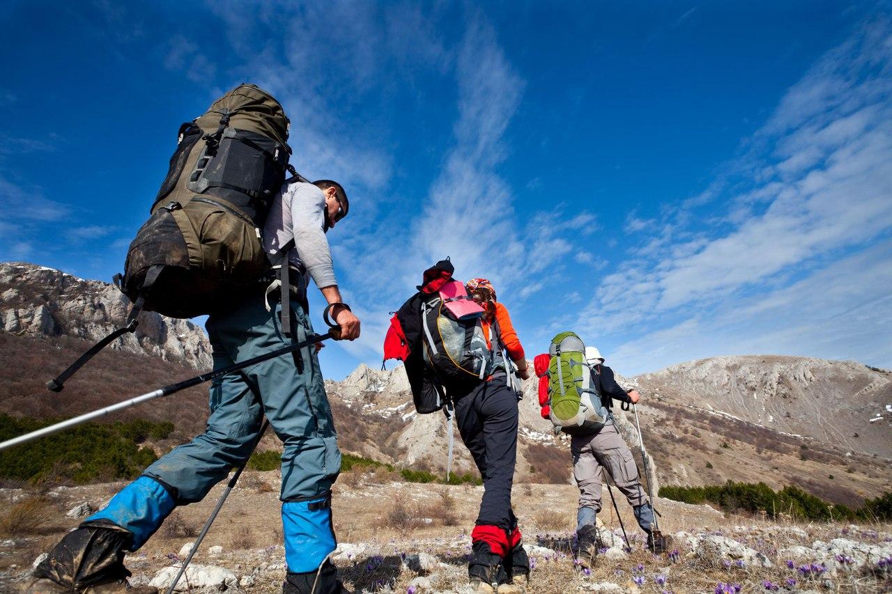 Поход в горы с рюкзаком