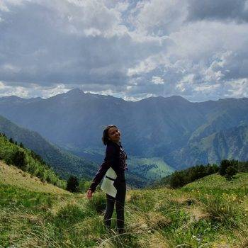 палаточный лагерь в горах Кавказа
